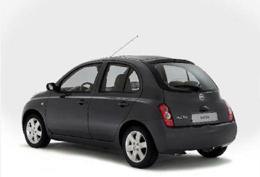 NISSAN Micra V hatchback szary ciemny tylny lewy
