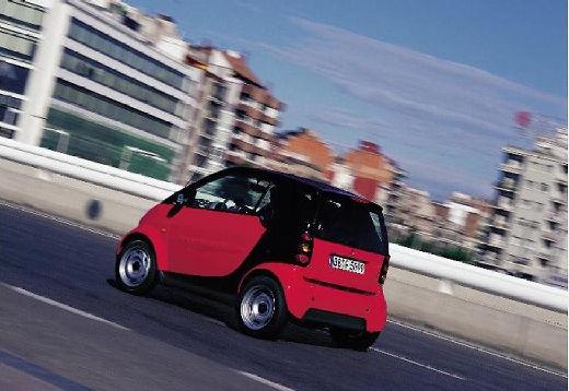 SMART fortwo city/ coupe czerwony jasny tylny lewy