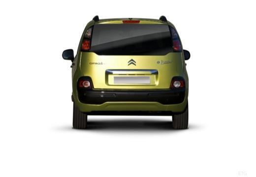 CITROEN C3 Picasso I hatchback zielony tylny