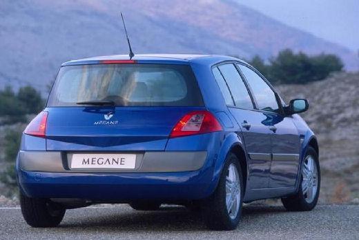 RENAULT Megane II I hatchback niebieski jasny tylny prawy