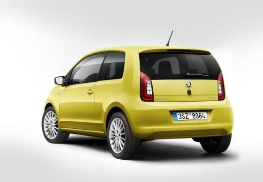 SKODA Citigo II hatchback żółty tylny lewy