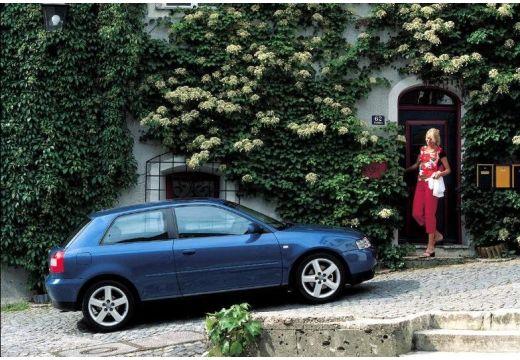 AUDI A3 /S3 8L II hatchback niebieski jasny boczny prawy