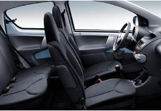 Toyota Aygo I hatchback niebieski jasny wnętrze
