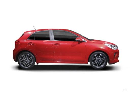 KIA Rio VII hatchback czerwony jasny boczny prawy