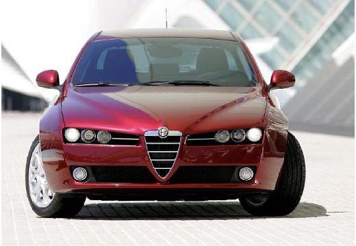 ALFA ROMEO 159 I sedan bordeaux (czerwony ciemny) przedni