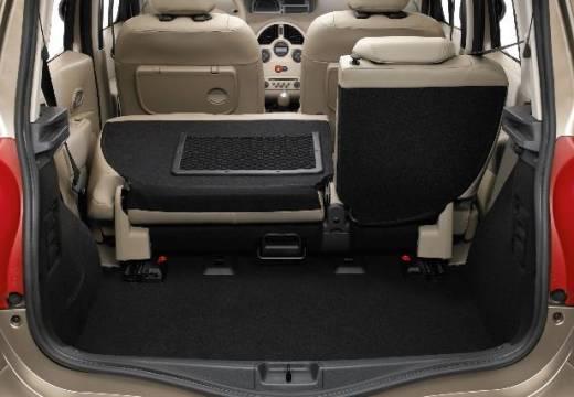 RENAULT Modus hatchback silver grey przestrzeń załadunkowa