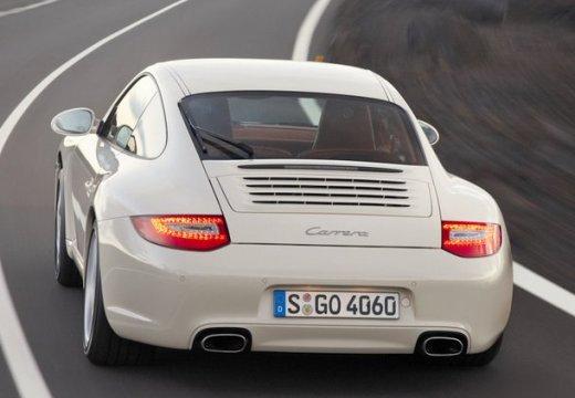 PORSCHE 911 997 coupe biały tylny lewy