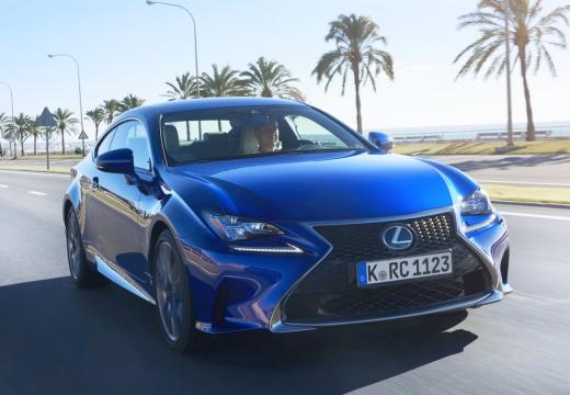 LEXUS RC coupe niebieski jasny przedni prawy