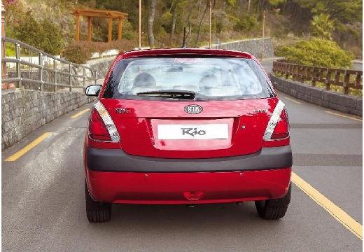 KIA Rio III hatchback czerwony jasny tylny