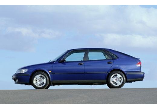SAAB 9-3 I hatchback niebieski jasny boczny lewy