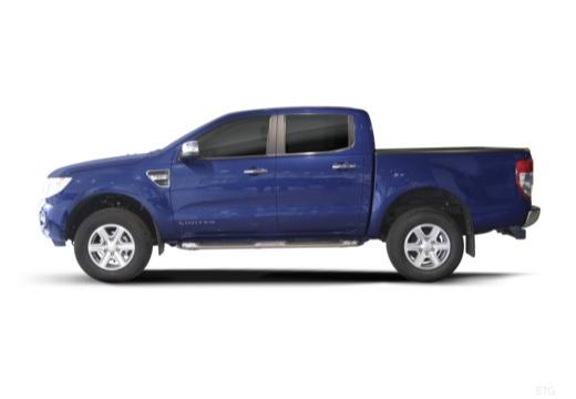 FORD Ranger pickup niebieski jasny boczny lewy