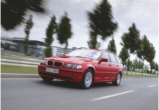 BMW Seria 3 kombi czerwony jasny przedni lewy