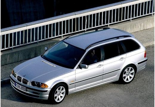 BMW Seria 3 kombi silver grey górny przedni