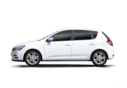KIA Ceed II hatchback biały boczny lewy