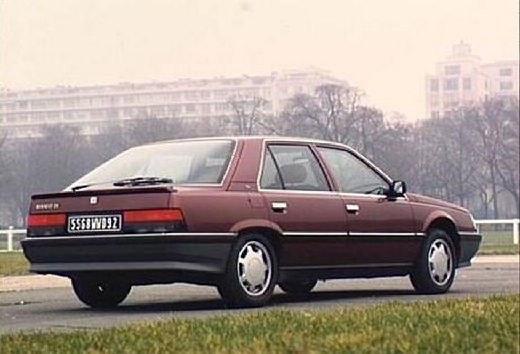 RENAULT R25 hatchback bordeaux (czerwony ciemny) tylny prawy