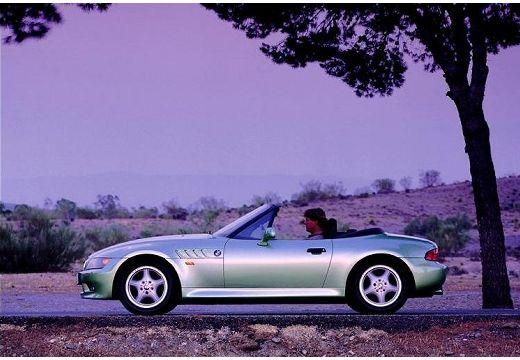 BMW Z3 roadster zielony jasny boczny lewy