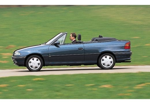 OPEL Astra Cabriolet II kabriolet niebieski jasny boczny lewy