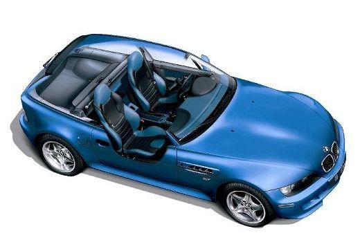 BMW Z3 coupe niebieski jasny prześwietlenie