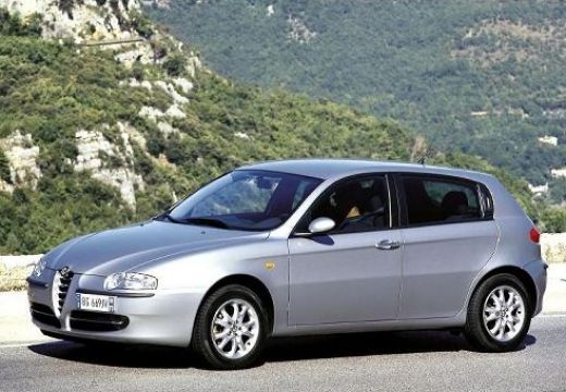 ALFA ROMEO 147 I hatchback silver grey przedni lewy