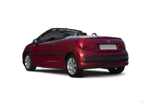 PEUGEOT 207 kabriolet tylny lewy