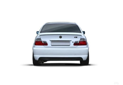 BMW Seria 3 coupe biały tylny