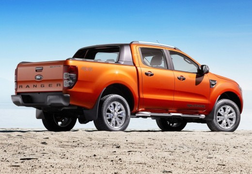 FORD Ranger pickup pomarańczowy tylny prawy