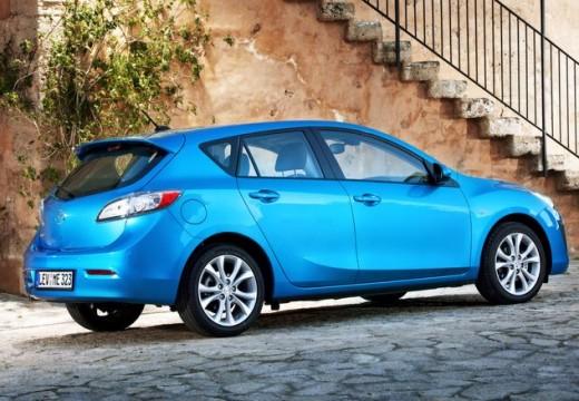 MAZDA 3 III hatchback niebieski jasny tylny prawy