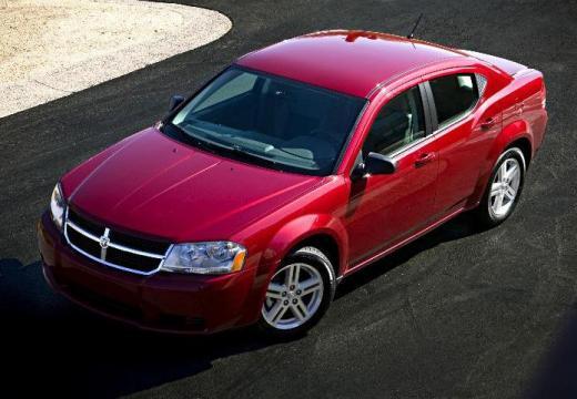 DODGE Avenger I sedan czerwony jasny przedni lewy
