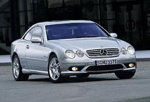 MERCEDES-BENZ Klasa CL 215 coupe silver grey przedni prawy