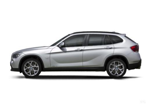 BMW X1 X 1 E84 I kombi silver grey boczny lewy