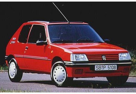 PEUGEOT 205 I hatchback czerwony jasny przedni prawy
