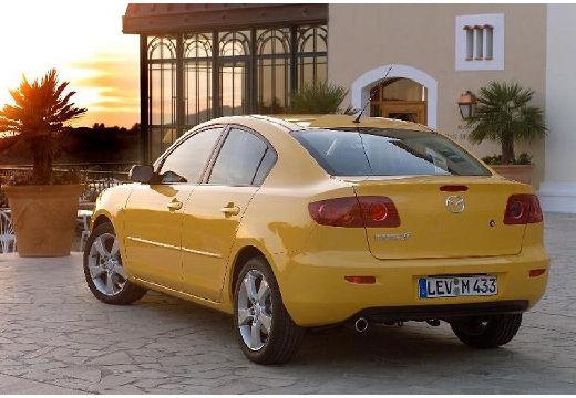 MAZDA 3 I sedan żółty tylny lewy