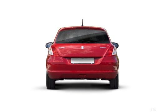 SUZUKI Swift II hatchback czerwony jasny tylny