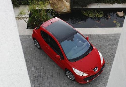 PEUGEOT 207 I hatchback czerwony jasny górny przedni