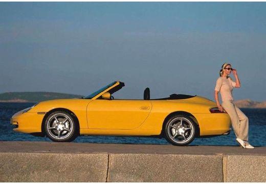 PORSCHE 911 kabriolet żółty boczny lewy