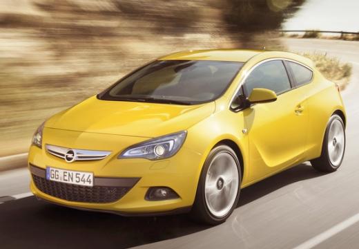 OPEL Astra hatchback żółty przedni lewy