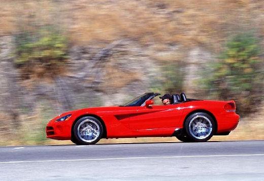 DODGE Viper roadster czerwony jasny boczny lewy