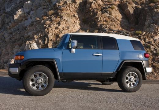 Toyota FJ Cruiser kombi niebieski jasny boczny lewy