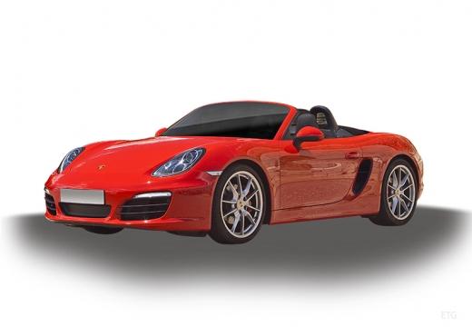 PORSCHE Boxster 981 roadster czerwony jasny