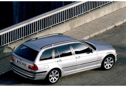 BMW Seria 3 kombi silver grey górny tylny