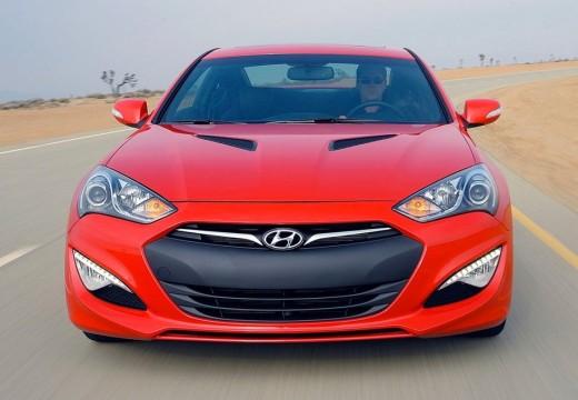 HYUNDAI Genesis II coupe czerwony jasny przedni