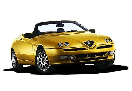 ALFA ROMEO Spider II kabriolet żółty przedni prawy
