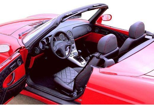 FIAT Barchetta kabriolet czerwony jasny wnętrze