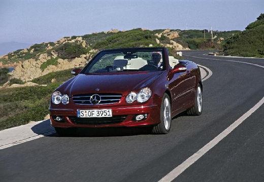 MERCEDES-BENZ Klasa CLK CLK Cabriolet A 209 II kabriolet bordeaux (czerwony ciemny) przedni lewy