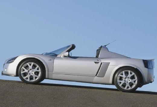 OPEL Speedster roadster silver grey boczny lewy