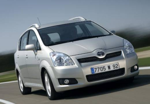 Toyota Corolla Verso III kombi mpv silver grey przedni prawy