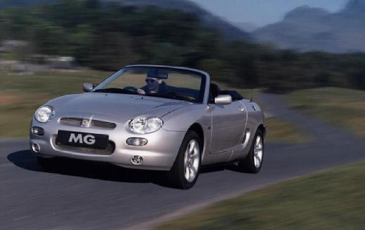 MG F roadster silver grey przedni lewy