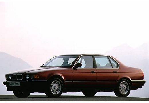 BMW Seria 7 sedan bordeaux (czerwony ciemny) przedni lewy