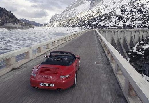 PORSCHE 911 Cabrio 997 kabriolet bordeaux (czerwony ciemny) tylny prawy