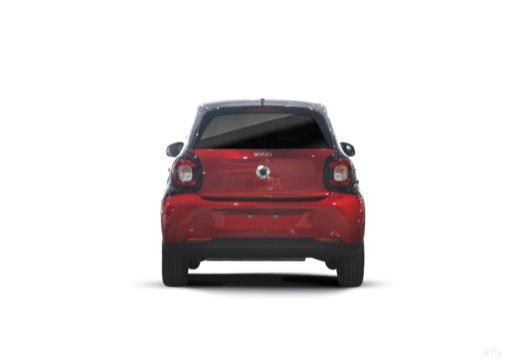SMART forfour II hatchback czerwony jasny tylny